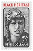 #2956 - Bessie Coleman - US Mint Stamp