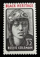 1995 32c Bessie Coleman, Aviator, Black Heritage Scott 2956 Mint F/VF NH